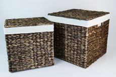Wäschekörbe-Set aus Wasserhyazinthe