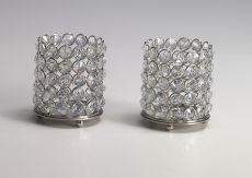 Kristall Kerzenständer 2er Set Lucy (Größe: S)