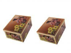 2er Set Ordnungsboxen-Clip Sonnenblumenkind