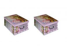 2er Set Ordnungsboxen-Clip Katze Rosa
