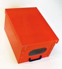 Deko-Karton Handbox Ordnungsbox Rot Aufbewahrungsbox