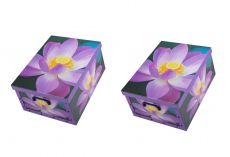 Ordnungsboxen Box Clip 2er Set Blume Violett