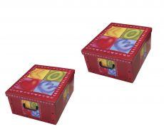 Ordnungsboxen Box Clip 2er Set Love