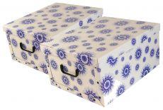 Ordnungsboxen  Box Clip Mandala Blumen Blau Aufbewahrungsbox