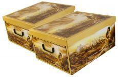 Ordnungsboxen Deko Karton 2er Set Box Clip Indianer Aufbewahrungsbox