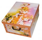 2er Set Ordnungsboxen-Clip Blüten-Orange