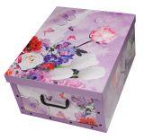 2er Set Ordnungsboxen-Clip Blumenstrauß-Violett