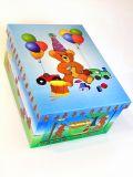 Deko Karton Bauli  Motiv TeddyOriginal- Bauli aus Mailand Aufbwahrungsbox