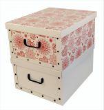 Ordnungsboxen Deko Karton 2er Set Box Clip Mandala Blumen Rot und Weiß Aufbewahrungsbox