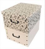 Ordnungsboxen Deko Karton 2er Set Box Clip Mandala Blumen Schwarz und Weiß Aufbewahrungsbox